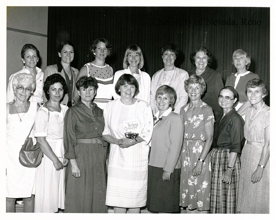 Anne Howard with numerous prominent northern Nevada women