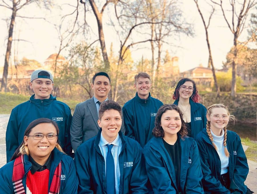 Nevada Debate Team students together at their Regional Competiton