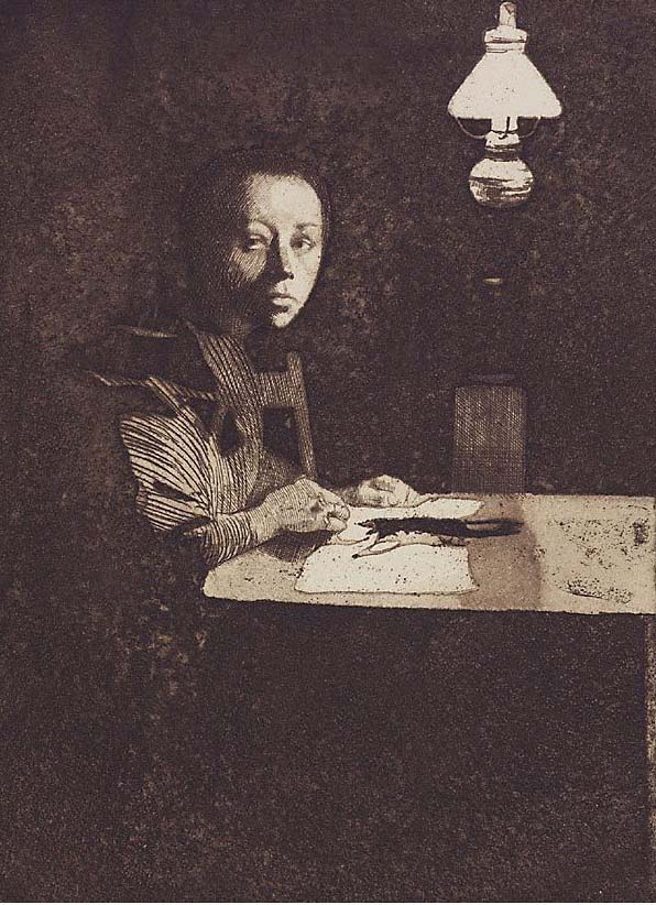 The Lilley: Käthe Kollwitz, Self-portrait at a Table, circa, 1893.