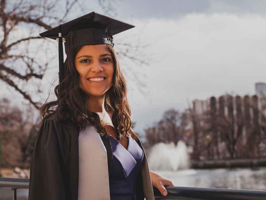 A graduation photo of Michelle Falcon Mujica.