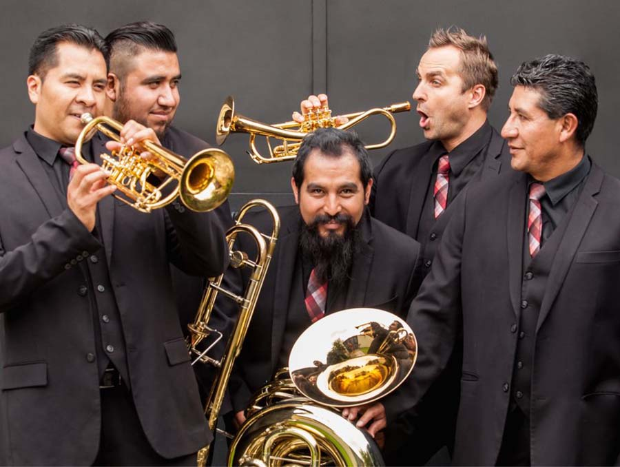 M5 Mexican Brass quintet. Image provided by liveonstage.biz.
