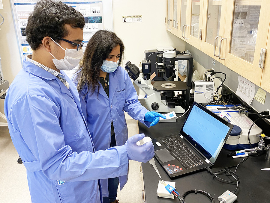 Researchers test a COVID-19 nanosensor