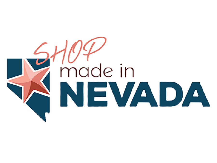 "The logo for ""Shop Made in Nevada,"" a new e-commerce website."