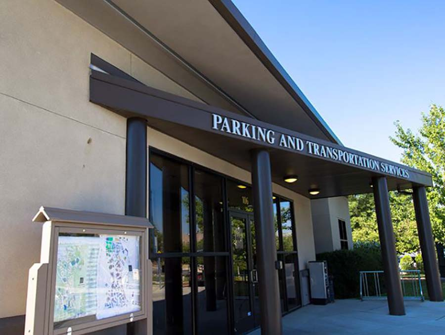 Parking Services Building on the University of Nevada, Reno campus.