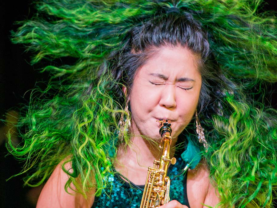 Award-winning saxophonist, singer and composer Grace Kelly.