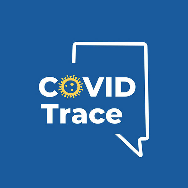 The logo for the app COVID Trace.