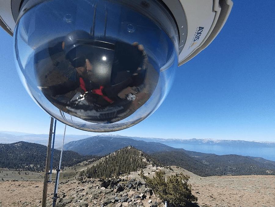 ALERTWildfire detection camera overlooking Lake Tahoe