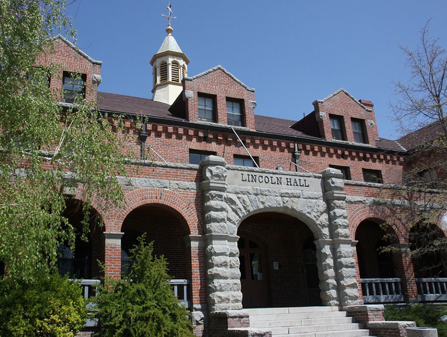 Front of Lincoln Hall building