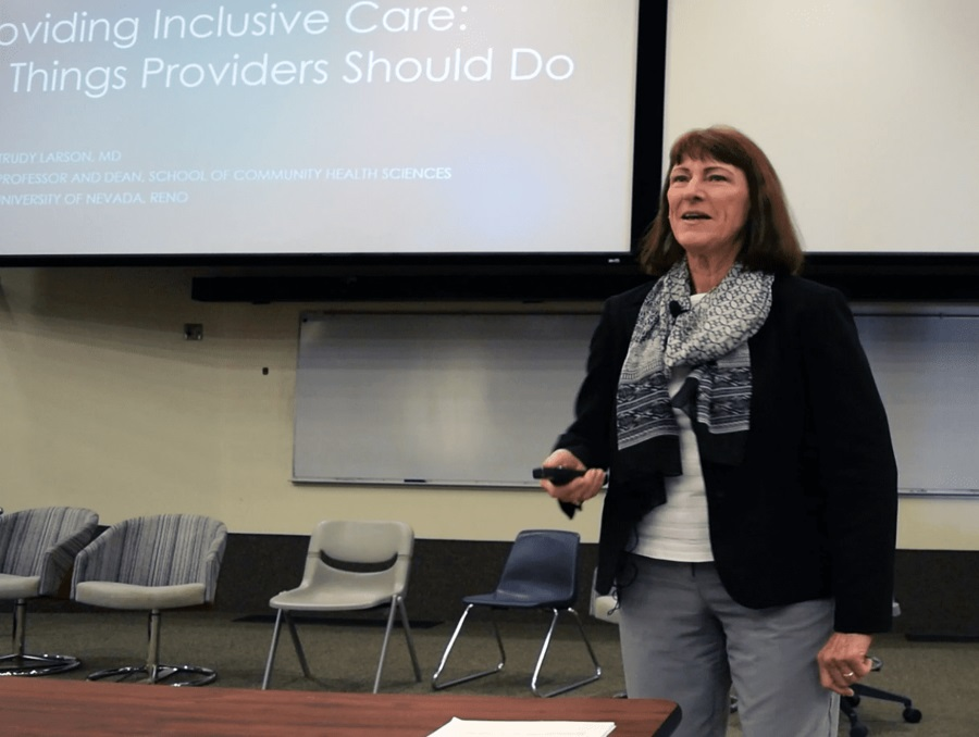 Trudy Larson presenting at last year's SGM conference