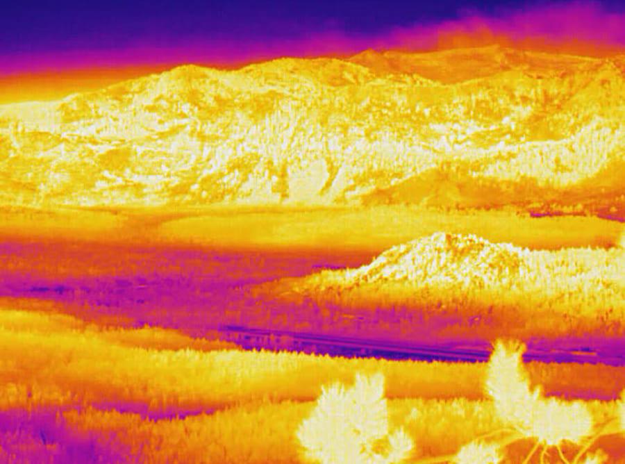 thermal image of south lake tahoe