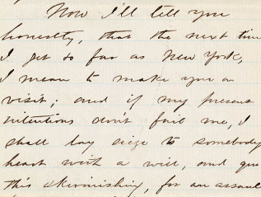 Sample of a letter from Henry dated January 29th, 1864 from the Henry & Nellie Mighel Correspondence crowdsourced transcription project
