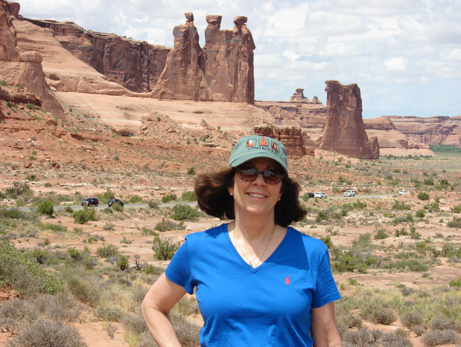 Dr. Lillian Wichinsky in Arches National Park, Utah