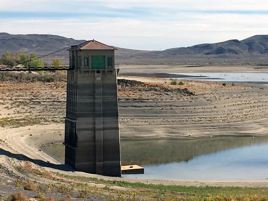 Lahontan Dam low water