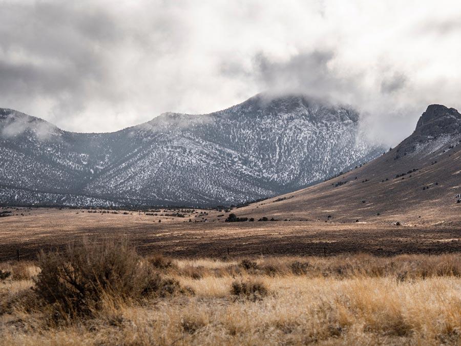 Scenic mountain landscape view in Fallon.