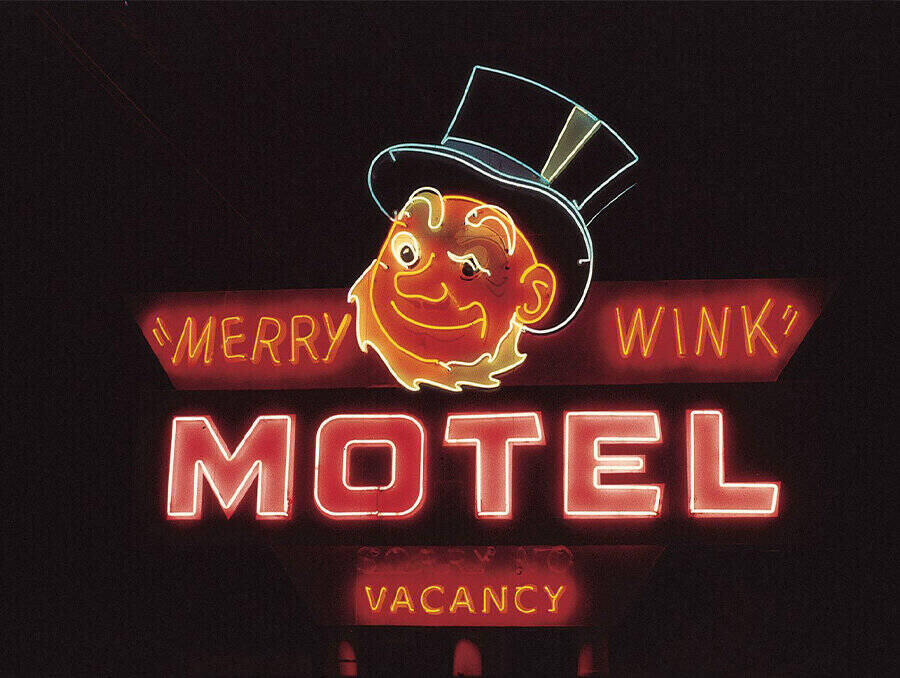 """""""Merry Wink"""" neon sign image provided the Neon in Nevada project"""
