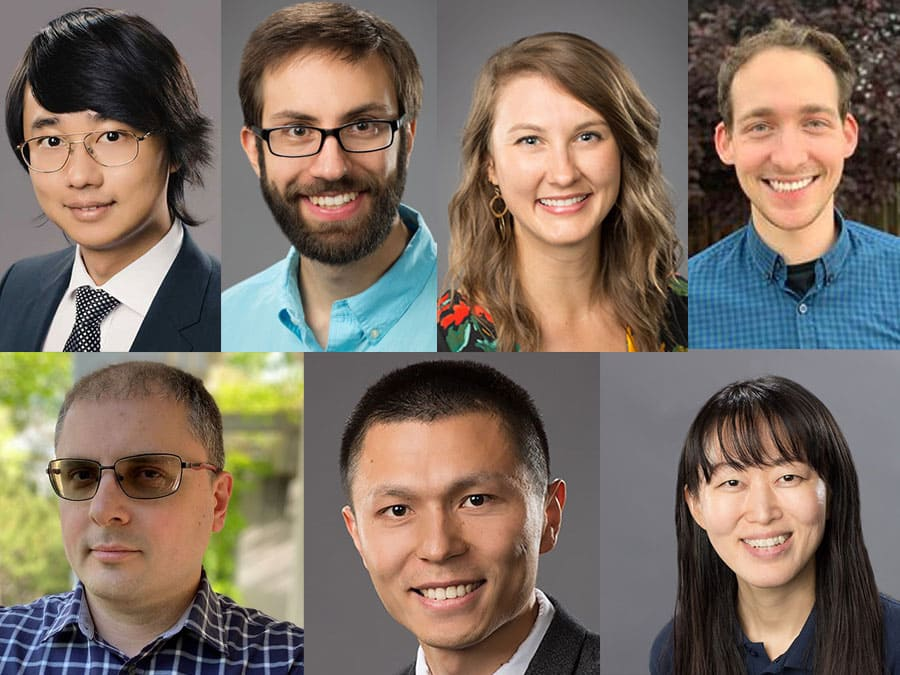 Collage of the individual photos of the University's 7 CAREER awardees in 2021