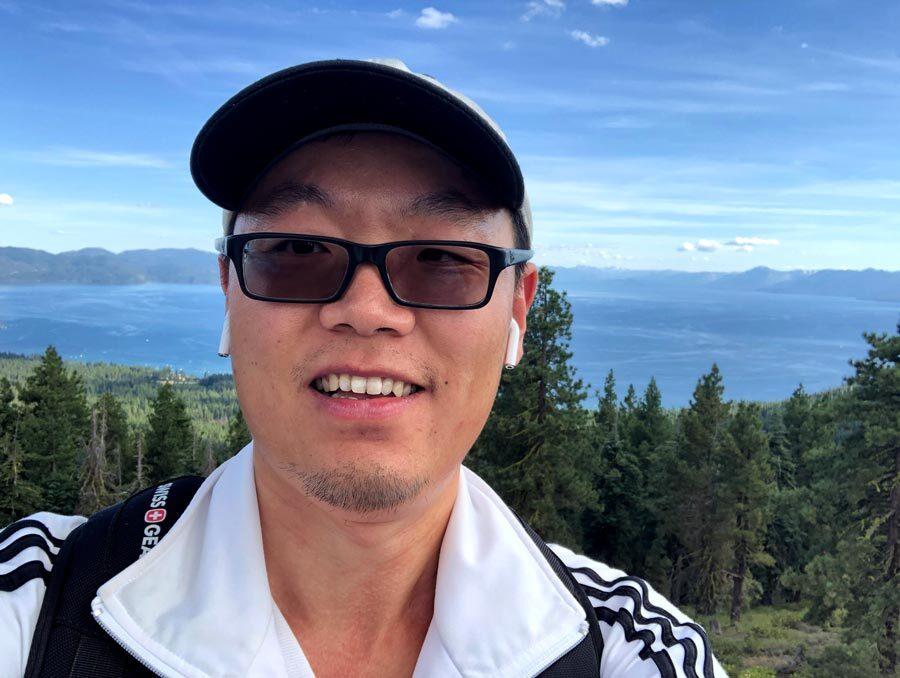 Photo of Jing-Jing Huang at Lake Tahoe.
