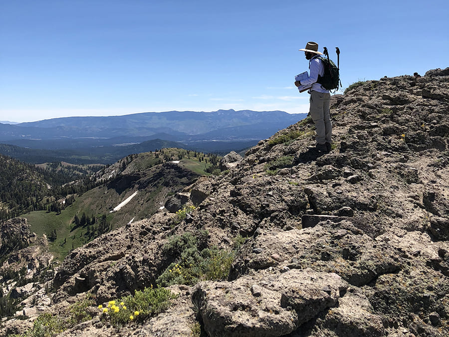 Chris Halsch on Castle Peak