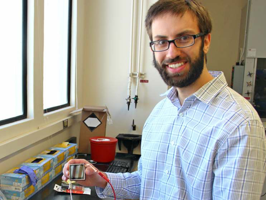 Chris Barile in his lab