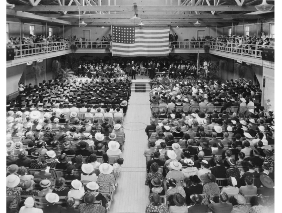 Class of 1936 commencement in old gym
