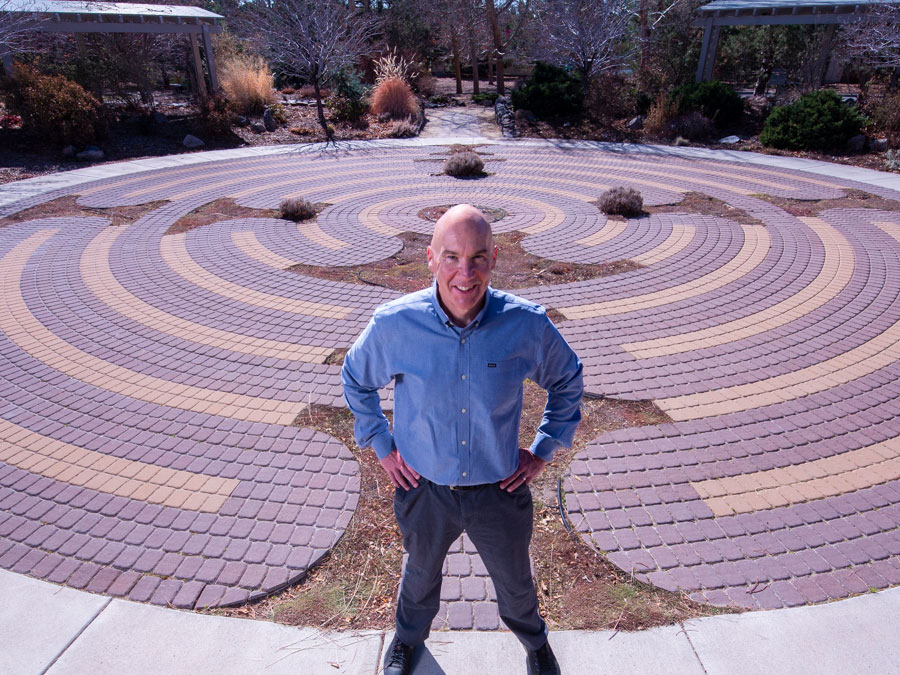 Scott Earley standing in a regional park near the University campus