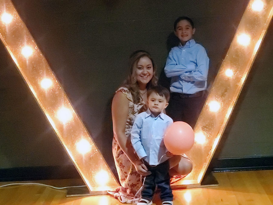 Aida Guerrero and her two sons