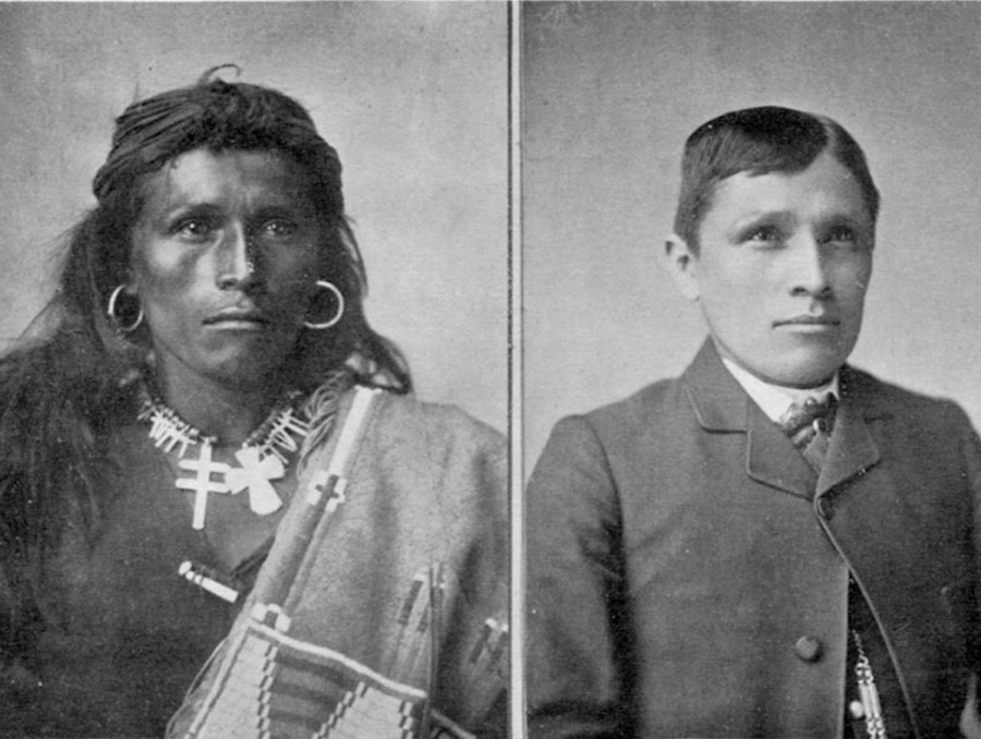 Native American Tom Torlino before and after boarding school