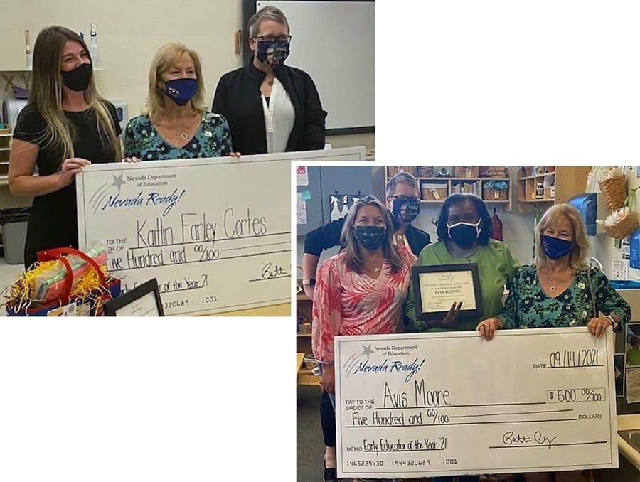 educators receive award and checks