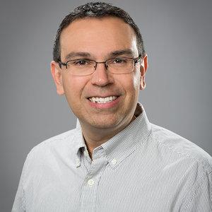Ignacio Montoya working at a computer